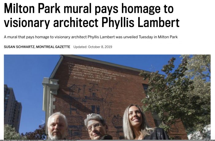 Mural Pays Homage to Visionary Architect Phyllis Lambert